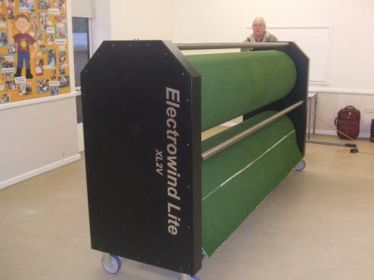 Electrowind - Electric Short mat and carpet bowls mat storage machine