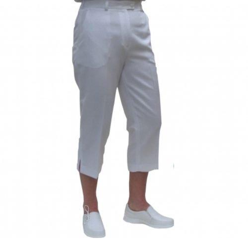Emsmorn Ladies Trousers Cropped (White)